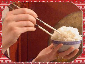 Riz cuit cycle du riz de la culture la r colte du - Comment tenir des baguettes chinoises ...